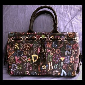 NWOT Chalk Board Style Dooney and Bourke Bag!